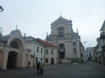 Church hat trick in Vilnius, Lithuania.