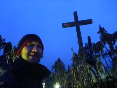 All alone Touring Kryziu Kalnas (The Hill of Crosses)