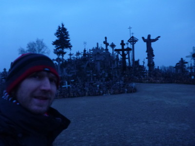 Visiting Kryziu Kalnas (The Hill of Crosses) Near Siauliai, Lithuania