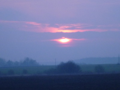 Sunrise on the edge of Siauliai