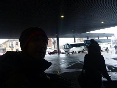 Dark selfie before boarding for Latvia.