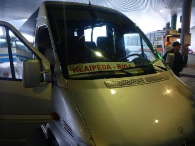 The bus from Siauliai to Ryga in Latvia.