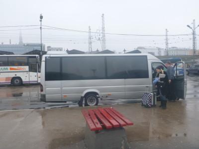 Arrival in dreary Riga, Latvia.