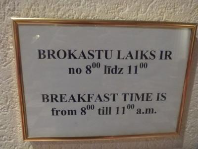 Breakfast time in Hotel Man Tess.