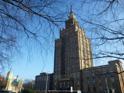 Stalin's Building in Riga Latvia.