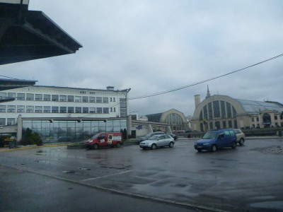 View from the main bus station in Riga, Latvia.