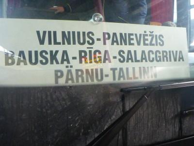 The bus originated in Vilnius, Lithuania.