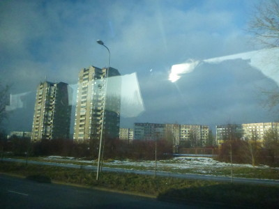 Leaving Riga, Latvia.