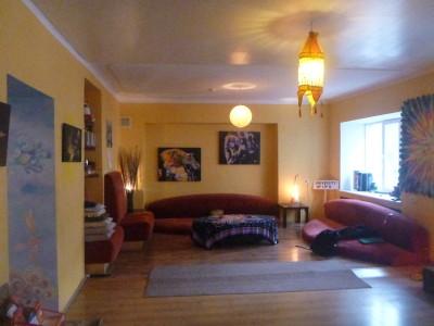 Cosy lounge at Euphoria Hostel. Yeah baby!
