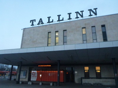 Tallinn train station is next door.