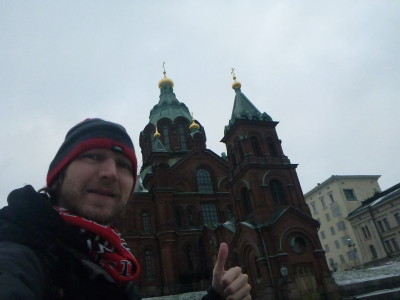 Sightseeing near the hostel - Uspenski Cathedral.