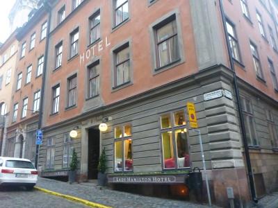 Exterior of the Lady Hamilton Hotel