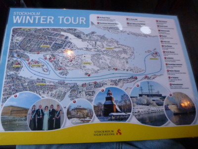 On board map of the Winter Tour