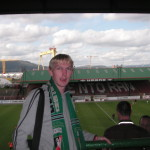 At the Oval watching my local team, Glentoran FC
