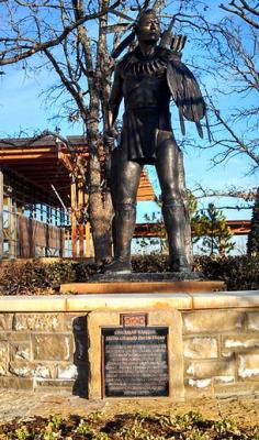 Chickasaw Warrior statue.