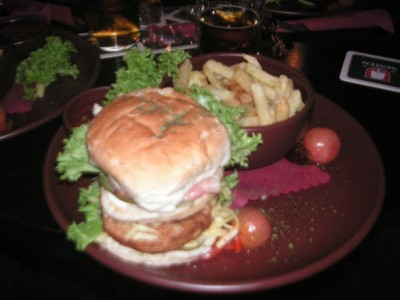 I was shocked to find this photo - this is the burger that made me boke