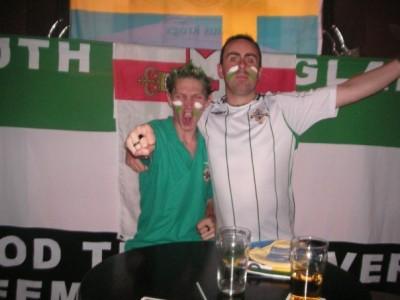 Tim and I in Riga, Latvia, 2007