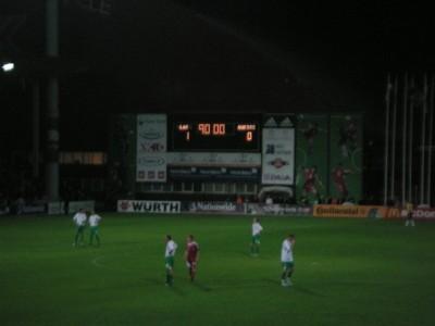 Losing 1-0 to Latvia