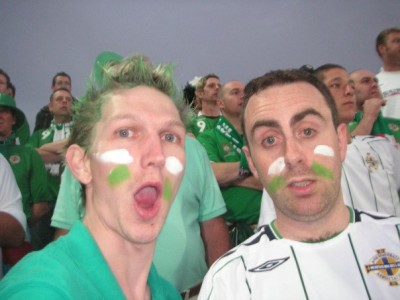 With Tim in the stadium