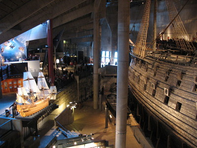 The stunning Vasa Museum in Stockholm, Sweden.