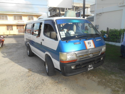Our minibus from Rima Guesthouse in Guyana to Suriname