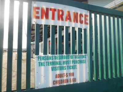 Immigration point for leaving Guyana