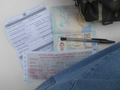 Suriname Visa, immigration and ferry ticket