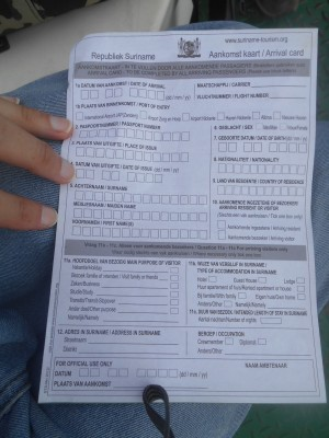 Suriname Immigration Forms