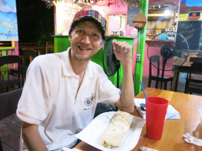 Dinner at Omars in Placencia, Belize