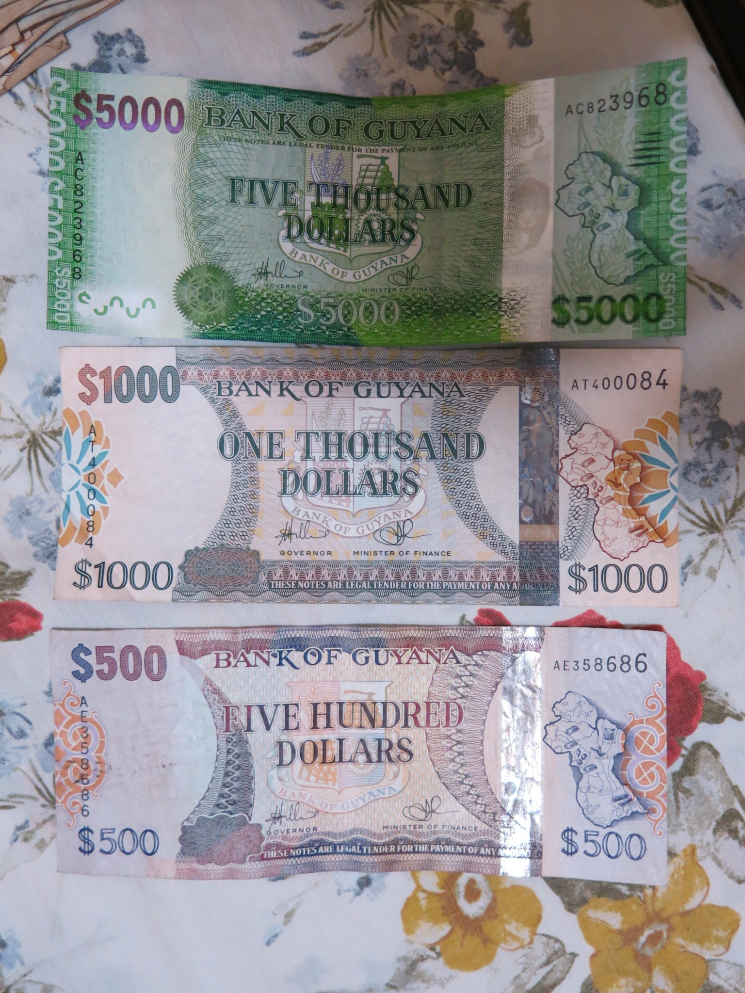 Guyanese Dollars