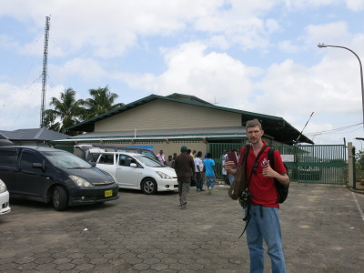 Arrival in Suriname at South Drain.