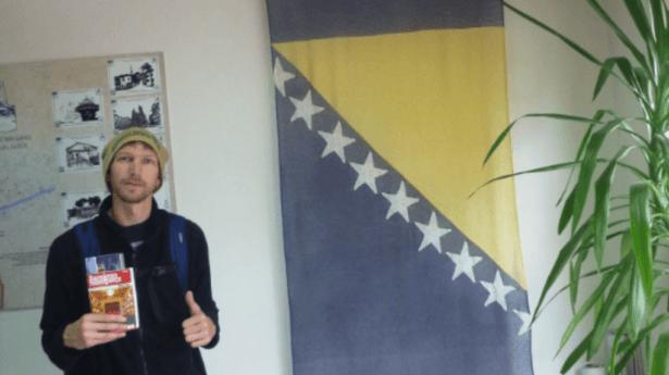 Jonny Blair backpacking in Sarajevo Bosnia