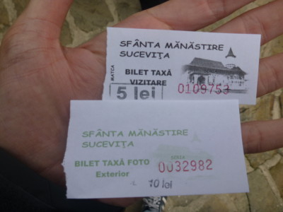 Ticket for Sucevita