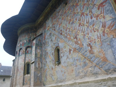 The murals tell the story from the Bible