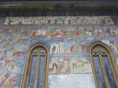 Amazing murals at Sucevita