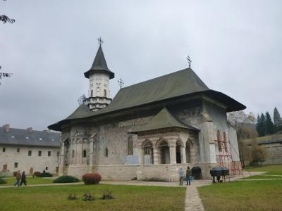 Touring Sucevita Monastery in Southern Bucovina, Romania