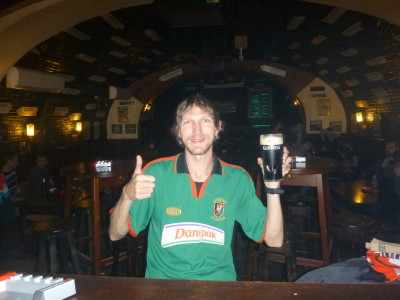 A decent Guinness in Deane's, Brasov, Romania.
