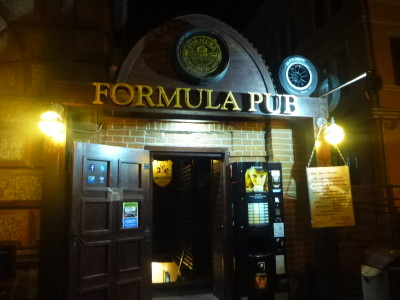 Entrance to Formula Pub, Brasov, Romania