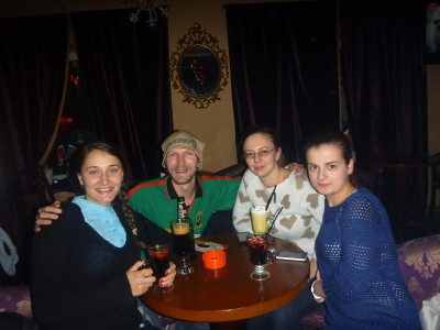 A drink with Gina, Ana Maria and Liv in Brasov
