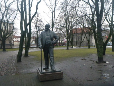 Statues in Kaunas Lithuania