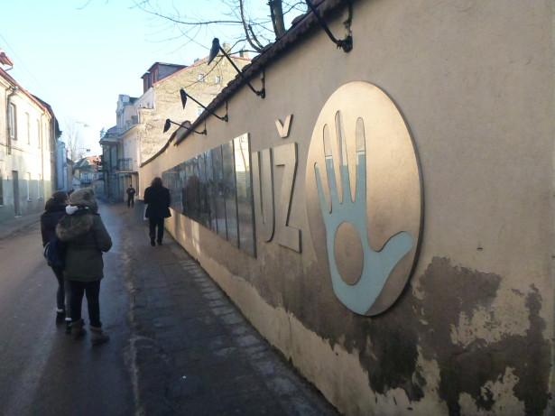 Constitution Wall in Uzupis