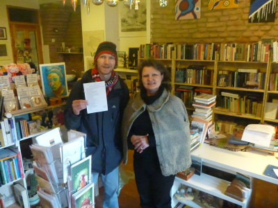With Gintare in Keistoteka Bookshop