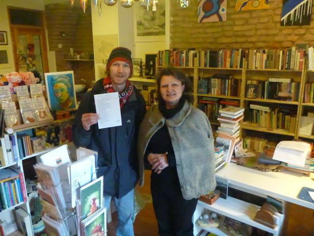 With Gintare in Keistoteka Bookshop