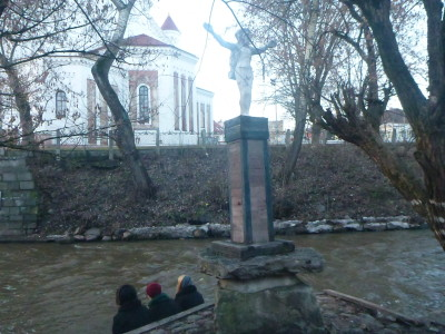 Statues down by the River Vilnia