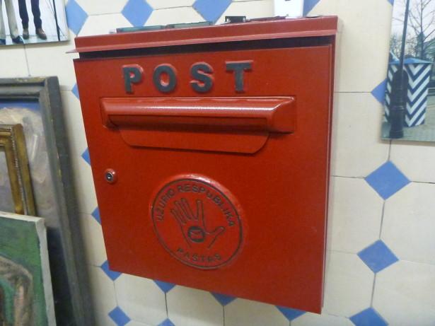 Post box in Uzupis