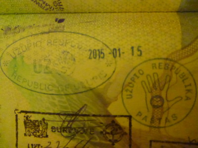 My Uzupis passport stamps