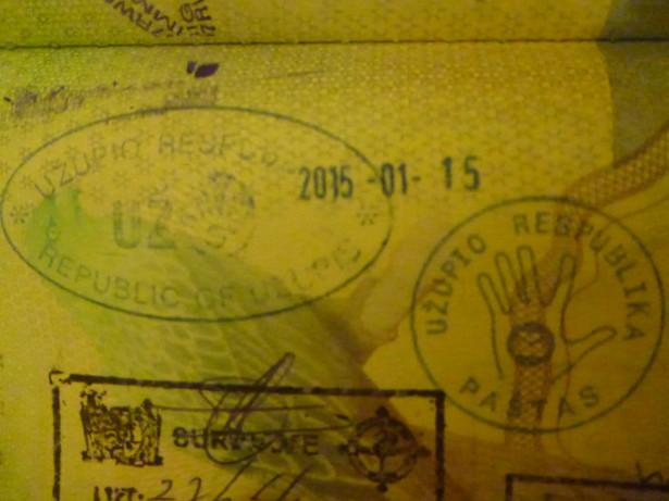 My Uzupis passport stamps