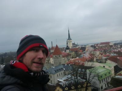 Admiring Tallinn from Kohtu Viewpoint