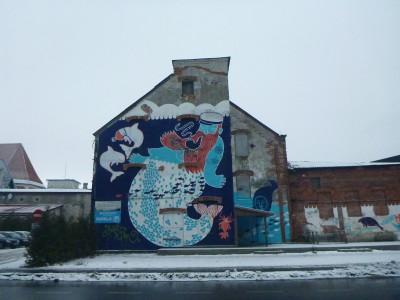 Wall mural in Parnu, Estonia