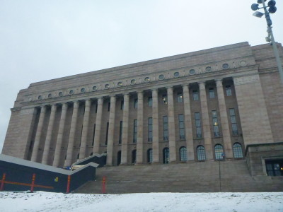 Parliament House in Helsinki, Finland